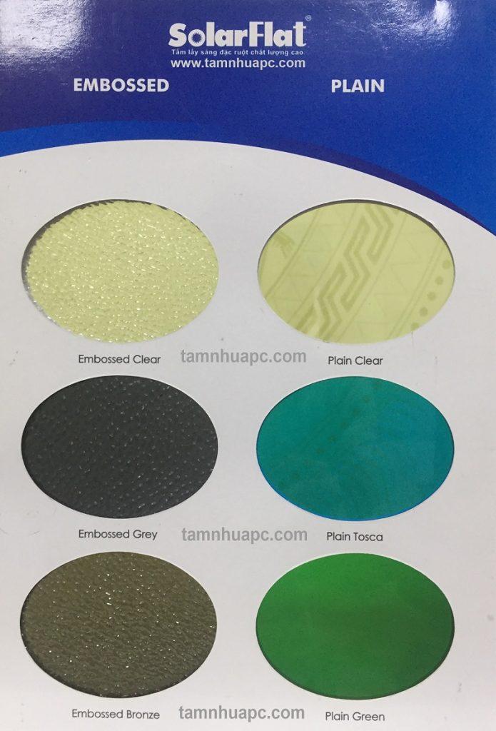 tấm lợp thông minh polycarbonate đặc ruột