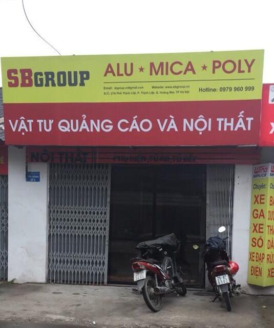 tấm poly lấy sáng giá sỉ tại Hà Nội